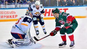 Чемпион КХЛ отгрузил пять голов в ворота олимпийского чемпиона. «Ак Барс» дожал «Магнитку» в Казани