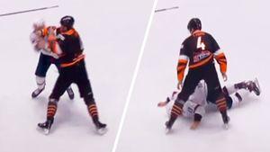 Нокаут с одного удара. Короткая драка в хоккейной словацкой Экстралиге: видео
