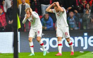 Албанские фанаты забросали польских футболистов бутылками после гола в матче квалификации ЧМ: видео