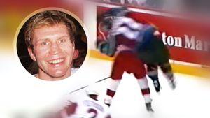 «Он вкладывал душу в каждый удар». Силовой прием русского хоккеиста Константинова на канадце Клоде Лемье