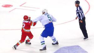 Канадский боец начал бить русских через 7 минут после дебюта в КХЛ. Ханту отомстил уфимский великан