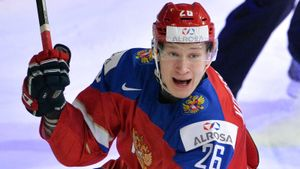Знаменитый гол русского хоккеиста Америке. Коршков развернулся на 360 градусов и вывел Россию в финал МЧМ