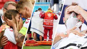 Драма на Евро: Эриксен потерял сознание на поле, его жена рыдала— фото