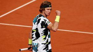 Русский теннисист Рублев одержал 8-ю победу подряд. В 3-м круге Ролан Гаррос он победил двухметрового Андерсона