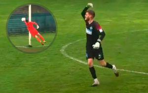 В Румынии вратарь забил гол ударом от своей штрафной