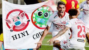 «Спартак» троллили свиным гриппом, Тедеско аплодировал с трибуны. Фото победы над «Арсеналом»