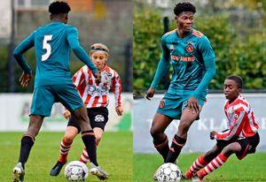 Гигантский футболист изГолландии: в14 лет онвразы больше своих сверстников
