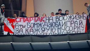 «Спартак» отреагировал насуровое наказание для заводящего фанатов, обвиненного воскорблениях Дзюбы