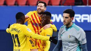 «Барселона» нанесла поражение «Осасуне», продлив беспроигрышную серию в Ла Лиге до 16 матчей