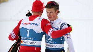 Российские лыжники завоевали серебро в эстафете на ЧМ, золото у Норвегии