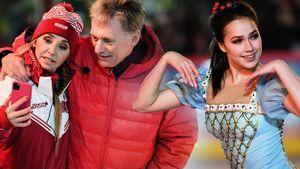 Песков и Навка селфились, Загитова предстала в образе принцессы Леи. Как в Москве открывали ГУМ-каток: фото