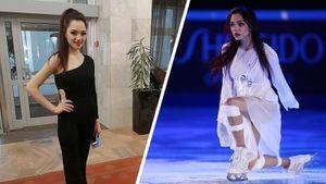 Медведева сменила растрепанное белое платье на стильный черный наряд. Вечеринка фигуристов в Москве