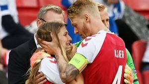 «Когда показали эмоции девушки Эриксена, стало невыносимо!» Как в мире отреагировали на ЧП с датским футболистом