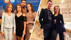 Глейхенгауз— вкедах, Степанова— вмодном топе: русские фигуристы набанкете вфинале ЧЕ-2020