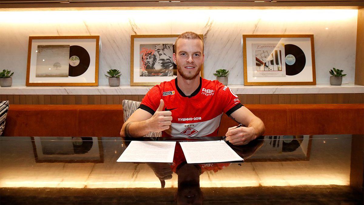 «Спартак» объявил о заключении долгосрочного контракта с полузащитником Хендриксом