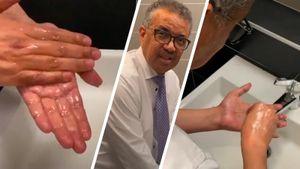 Глава ВОЗ показал, как правильно мыть руки во время пандемии коронавируса: видео