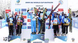 Россия прервала адскую серию из 43 гонок без медалей, выиграв эстафету. Латыпов разорвал норвежца на финише