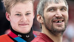 Русский вундеркинд положил два лакросс-гола запериод. В16 лет онзабивает больше, чем юный Овечкин