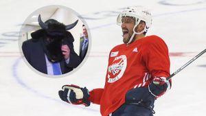 Овечкина будет тренировать американец Лавиоллет? Он давал интервью в маске быка и нападал на хоккеиста