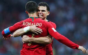 Пепе с Витей и Иваном жгут за Испанию и хет-трик Роналду за Португалию: огненные фото с матча