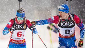 Русские победители «Рождественской гонки» провалили сингл-микст: 2 штрафных круга и 12 промахов на двоих