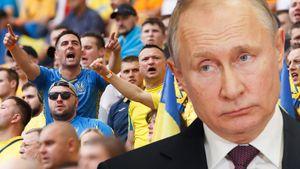 Фанаты Украины оскорбляли Путина, пока их сборная повторяла путь России на Евро. Первая победа соседей на турнире