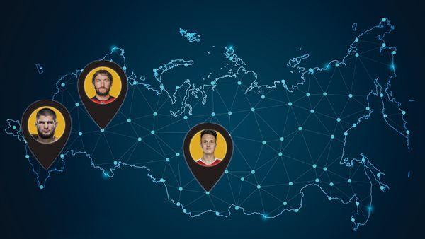 Откуда родом самые богатые и популярные спортсмены России: карта