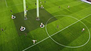 Бундеслига запустила инновационную систему. Она вреальном времени отслеживает вероятность гола ипозиции игроков