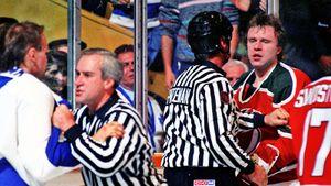 Легендарная драка советского хоккеиста Фетисова. На него напали со спины, отомстить канадцу удалось через 3 месяца