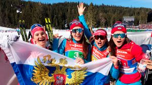 Русские девчонки повторили успех Олимпиады на ЧМ в Австрии. У нас снова медаль в эстафете