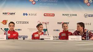 Фигуристка Косторная нашла смешной способ быстро закончить победную пресс-конференцию: видео