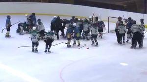 На Украине хоккейный тренер набросился на 11-летних игроков во время матча: видео