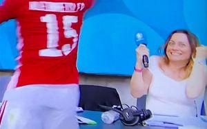 Журналистка смешно отреагировала на гол Венгрии в ворота Франции на Евро: видео