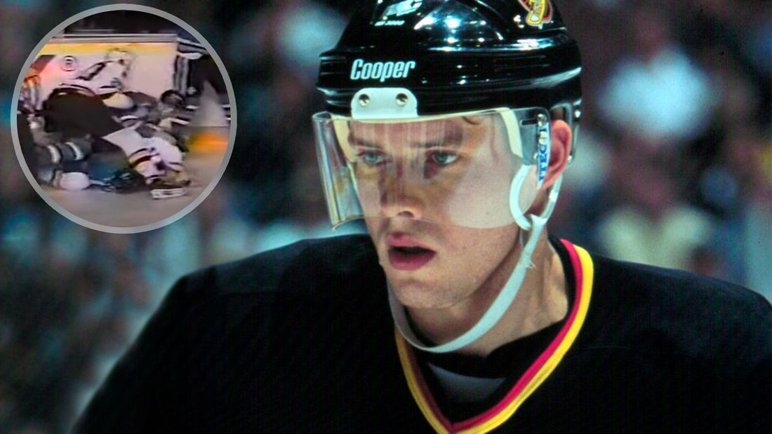 Легендарная драка русского хоккеиста Буре. На молодую звезду напал со спины канадец Эвасон и пожалел об этом: видео