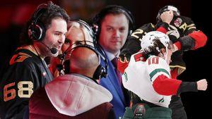 Валуев увидел драку хоккеистов, Ягр был нарасхват, Доус сломал клюшку о перекладину. «Авангард» — «Ак Барс»: фото