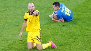 Правильноли удалили шведа Даниэльссона в матче с Украиной? Разбираем эпизод, который привёл к выходу соседей в 1/4