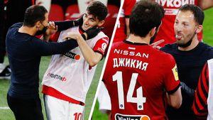 Тедеско показывал язык и прыгал на игроков, Федун смотрел футбол с детьми. «Спартак» вышел на 1-е место в РПЛ: фото