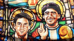Марадона и Месси стали героями трогательного видео аргентинского канала на День отца