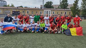 Болельщики сборной России обыграли бельгийцев перед матчем национальных сборных