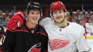 Трогательная русская история в Америке: два брата сыграли друг против друга в НХЛ. Свечников-младший оказался круче