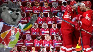 Забавное падение вратаря и картонные зрители на трибунах. Атмосфера матча Россия — Чехия: фото