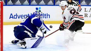 «Он — Иисус Христос». Что говорят в США о крутых спасениях русского вратаря Василевского на старте сезона НХЛ