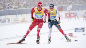Иверсен выиграл марафон на ЧМ, Большунов со сломанной палкой приехал вторым, Клэбо дисквалифицировали