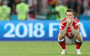 Фото матча Россия — Хорватия, которые трогают до слез. Убитый Смолов и прощающийся Игнашевич