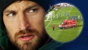 Российский вратарь Крицюк жестко сыграл против защитника «Порту» Нану. Его доставили в больницу