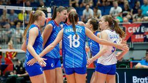 Русские волейболистки — в четвертьфинале чемпионата Европы. Но с бельгийками пришлось помучиться
