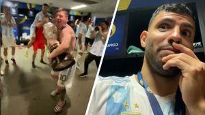 Агуэро показал, что происходило в раздевалке сборной Аргентины после победы в Кубке Америки. Видео