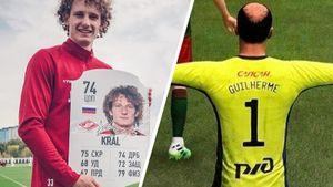 Какими сделали звезд чемпионата России в FIFA 21. Гильерме — лысый, Крал — гражданин РФ