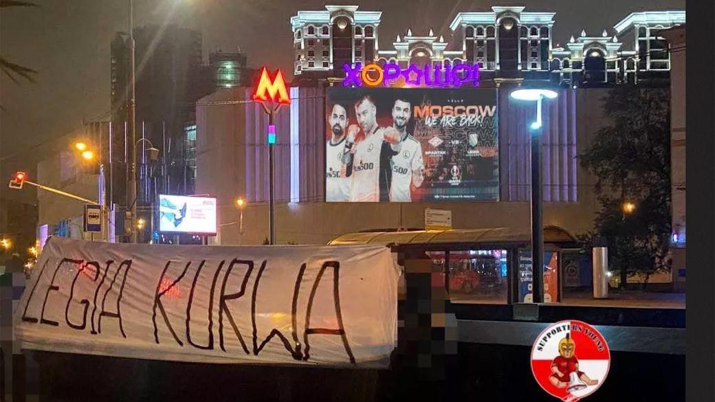 Легия развесила по Москве билборды с надписью Мы вернулись! Фанаты Спартака с юмором отреагировали: фото