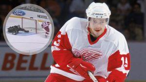 Знаменитый гол русского хоккеиста Дацюка в США. В 2003-м он исполнил крутой трюк, обманув вратаря «Далласа»